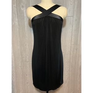 Calvin Klein Black Slip Dress w/Silk Straps 4